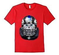 Cute Tabby Cat As American Football Player T-shirt Red