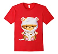 Mummy Bear Halloween Out Costume Party Gifts Pullover Shirts Red