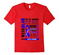 I Wear Blue For The Warriors Usher Syndrome Awareness Pullover Shirts Red