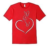 Rabbi Rabbit Heart Gift For Rabbit Lover Shirts Red