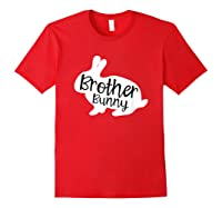 Brother Bunny Cute Rabbit Family Easter Gift Shirts Red