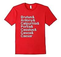 Shakespeare Julius Caesar Character List T Shirt Red