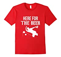 Here For The Beer Bowling For Bowlers Shirts Red