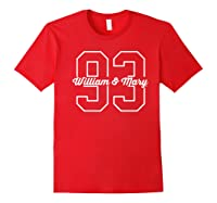 College Of William Mary Tribe Cn3fd05 Shirts Red