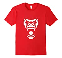 Angry Gorilla Furious Silverback Shirts Red