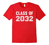 Class Of 2031 Grow With Me First Day Of School Shirts Red