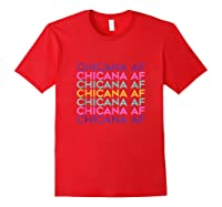 Chicana Af Shirt, Pride Gift For , Chicana Girls Tank Top Red
