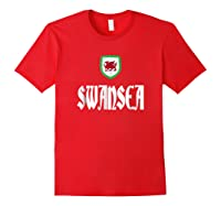 Swansea City T Shirt Welsh Souvenir Travel Red