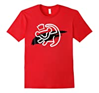 Lion King Simba Cave Painting Smear Graphic Shirts Red