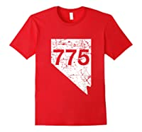Carson City Reno Sparks Area Code 775 Shirt Nevada Gift Red