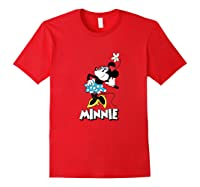 Disney Minnie Mouse Flower T Shirt Red