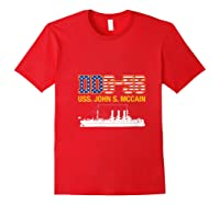 Ddg 56 Uss John S Mccain Shirts Red