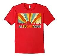 Albuquerque T Shirt City Skyline 70s Retro Souvenir Shirt Red