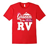 Queen Of The Rv Outdoor Camper Partner Gifts Shirts Red