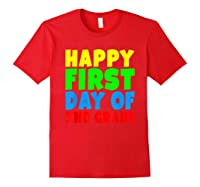 Happy First Day Of Second Grade School For 2nd Grade Shirts Red