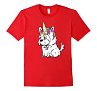 Bichon Frise Unicorn Hat Funny Dog Gift Shirts Red
