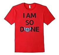 Disney Stitch So Done T Shirt Red