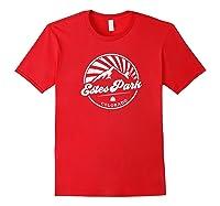 Estes Park Colorado Retro Vintage City Mountains T Shirt Red