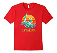Catalina Souvenir Island California Shirts Red