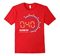 Oldometer 40 T-shirt 40th Birthday Gift Funny T-shirt Red