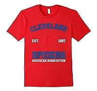 Cleveland Spiders Shirt Baseball Fan T-shirt Red