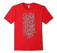 Grafi Tag Lettering Abc B-boy Streetart Urban Art T-shirt Red