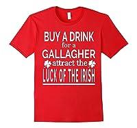 Gallagher Luck Of The Irish Namesake Family Gift T Shirt Red