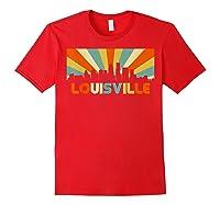 Louisville T Shirt City Skyline Retro 70s Souvenir Shirt Red