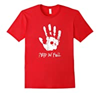 Jesus Hand Print, Paid In Full Christian Faith Shirts Red