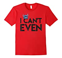 Disney Stitch Can T Even T Shirt Red