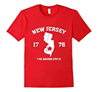 New The Garden State Vintage New Home Shirts Red