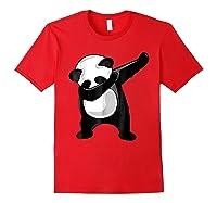 Dabbing Panda Giant Panda Bear Dab Dance Shirts Red