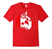 Proud Canada Flag Map T-shirts Maple Leaf Shirt Canada Day T-shirt Red