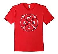 Arkansas Adventure Shirt Est 1836 Deer Arrow State Gift Red