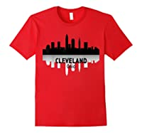 Cleveland Cleveland Skyline Native American Ther Shirts Red
