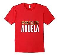 Proud Abuela Gay Pride Month Retro Lgbtq Shirts Red