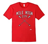 Mile High City Denver Premium T Shirt Red