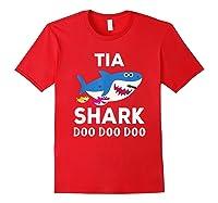 Tia Shark Doo Doo Doo Matching Family Shirts Red