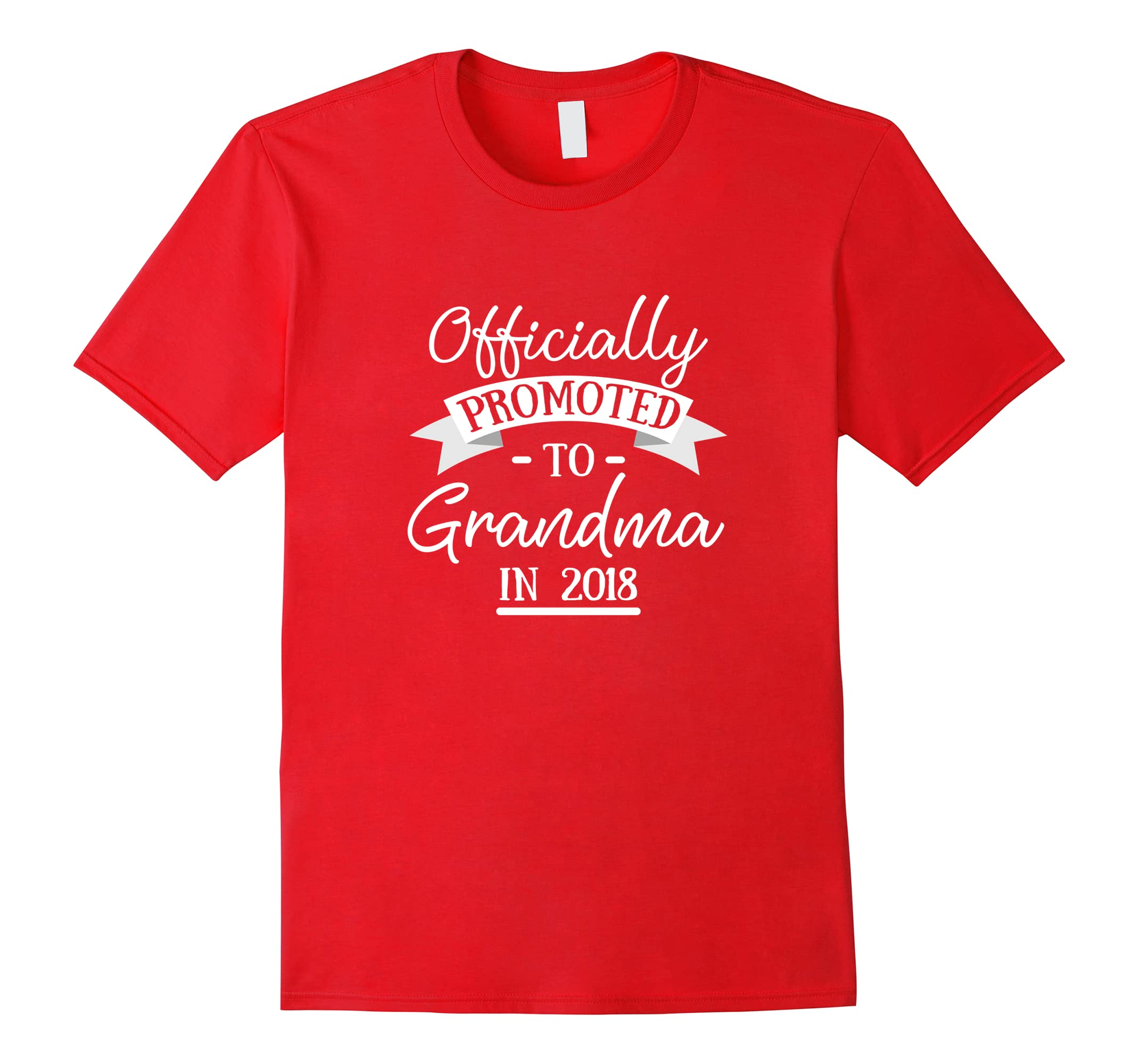 Officially Promoted to Grandma T-Shirt Announcement Gift-RT