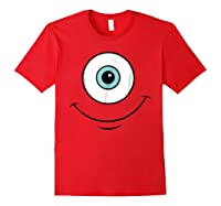 Monsters Inc Mike Eye Halloween Graphic Shirts Red
