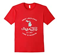 Great Lakes State Unsalted Est 1837 Made In Michigan T-shirt Red