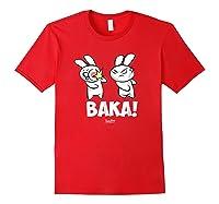 Funny Anime Baka Rabbit Baka Japanese Anime Lover Shirt Red