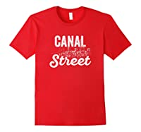 Canal Street Sign New York City Skyline Shirt For New Yorker Red