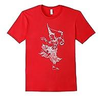 Vishnu Hindu Deity Shirt Meditation T-shirt Red