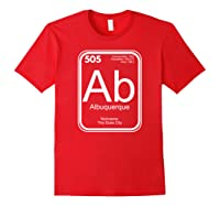Albuquerque Tshirt Periodic Table New Mexico Gift Red