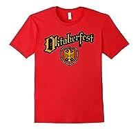 Oktoberfest German Eagle Shield Classic Vintage Shirts Red