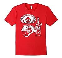 Mariachi Skeleton With Tequila Dia De Los Muertos Shirts Red