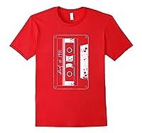 Vintage Best Of 1981 80s Tape Cassette Funny Dj Shirts Red