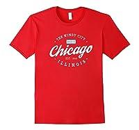 Chicago Shirt The Wind City Chicago Illinois Gift Shirt Premium T Shirt Red