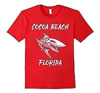 Cocoa Beach Shark Skeleton T Shirt Red